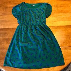 ModCloth Peach Love Dinosaur Dress Size 1XL